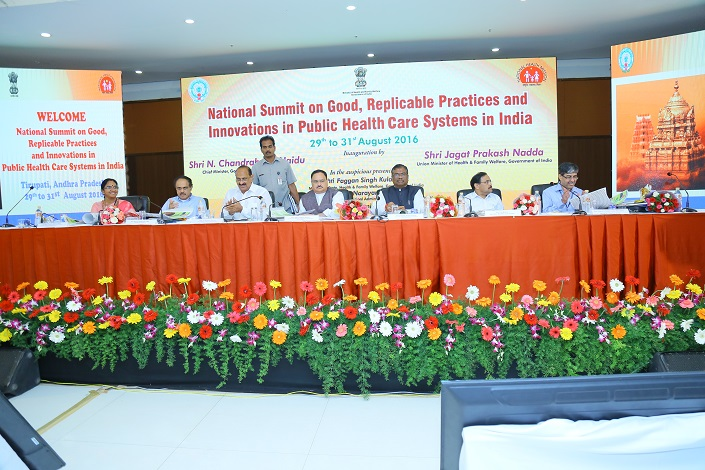 National Summit on Good Replicable Practices and innovations in Healthcare Systems on 29 to 31 August 2016 at Tirupati  Andhra Pradesh